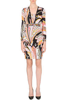 EMILIO PUCCI Long-sleeved printed crepe dress