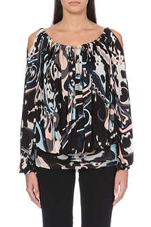EMILIO PUCCI Chain-detail printed top