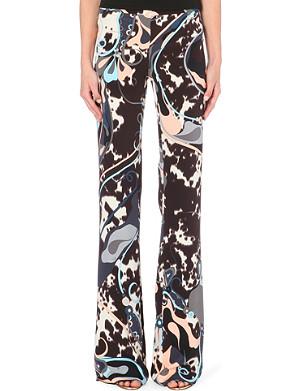 EMILIO PUCCI Printed palazzo silk trousers