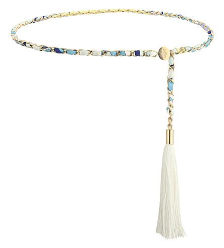 EMILIO PUCCI Chain and tassel belt (Blue