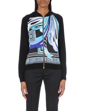 EMILIO PUCCI Silk-panelled wool-blend jacket