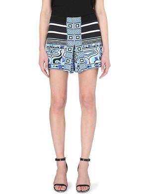 EMILIO PUCCI Striped-print jersey shorts