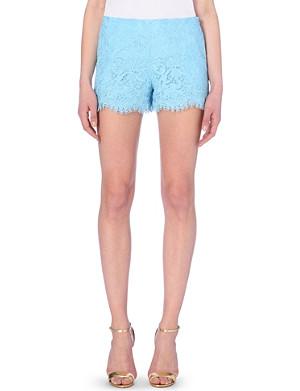 EMILIO PUCCI High-rise lace shorts