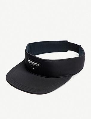 Logo-embellished visor