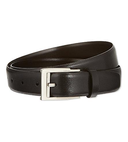 LANVIN Calfskin leather belt (Black
