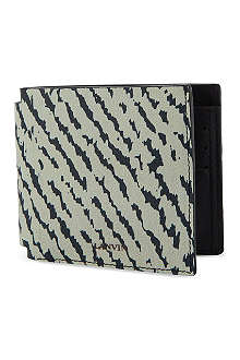 LANVIN Animal jaquard leather wallet