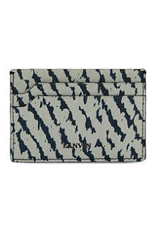 LANVIN Animal jacquard card holder