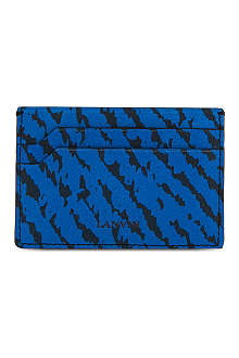 LANVIN Anial jacquard leather card holder