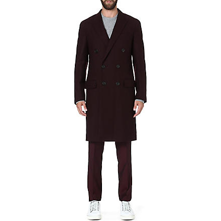 LANVIN Wool overcoat (Burgundy