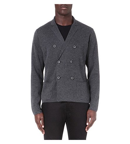 LANVIN Milano double-breasted cardigan (Grey