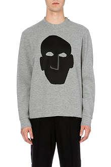 LANVIN Satin-face appliqué sweatshirt