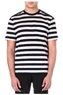 LANVIN Striped panelled t-shirt