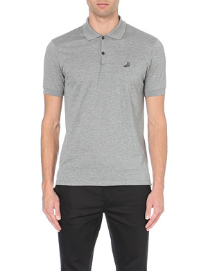LANVIN Slim-fit grey cotton-piqué polo shirt