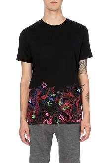 LANVIN Dragon-print cotton-jersey t-shirt