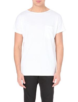 LANVIN Patch pocket cotton-jersey t-shirt
