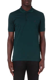 LANVIN High-top embroidered polo shirt