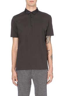 LANVIN Regular-fit grosgrain-collar polo shirt