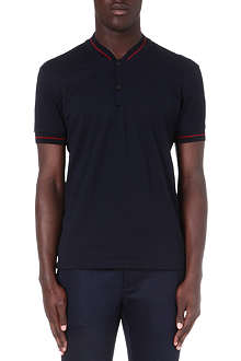 LANVIN Striped slim-fit polo shirt