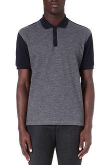 LANVIN Felt-front polo shirt