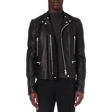 LANVIN Calfskin biker jacket (Black