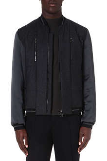 LANVIN Satin-sleeve bomber jacket