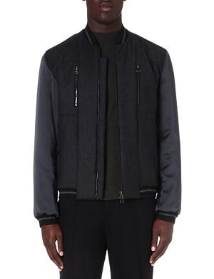 LANVIN Satin-sleeve bomber jacket