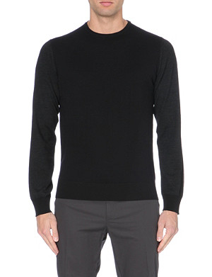 LANVIN Tri-colour lightweight knitted jumper