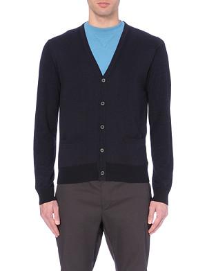LANVIN Contrast wool-blend cardigan