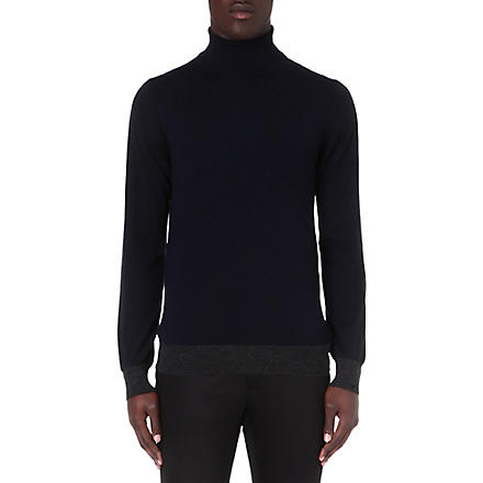 LANVIN Roll-neck wool jumper (Navy