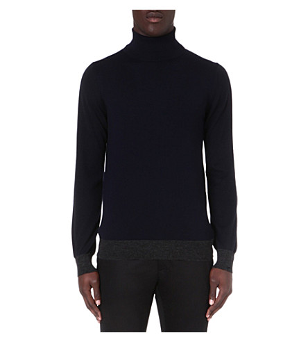 LANVIN Roll-neck wool jumper (Navy