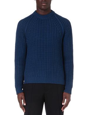 LANVIN Beaded rib-knit jumper