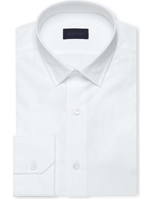 LANVIN Spread collar slim-fit cotton shirt