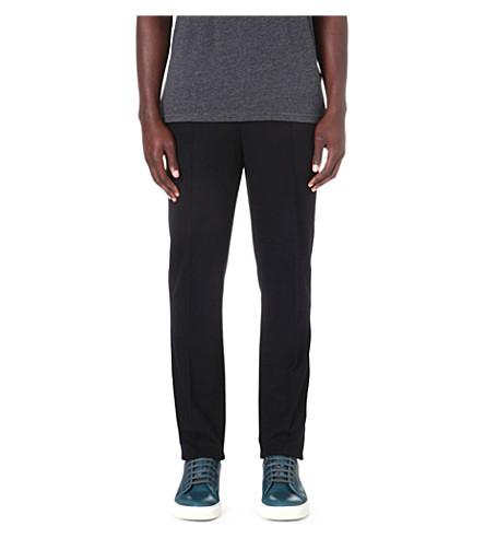 LANVIN Pleat jersey trousers (Black