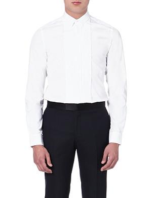 LANVIN Pleated-front tuxedo shirt