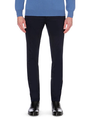 LANVIN Slim-fit tapered cotton chinos