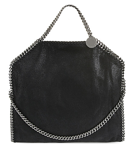 STELLA MCCARTNEY Falabella faux-leather tote bag (Black