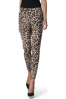 STELLA MCCARTNEY Leopard wool jogging bottoms