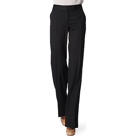 STELLA MCCARTNEY Straight-leg trousers (Black