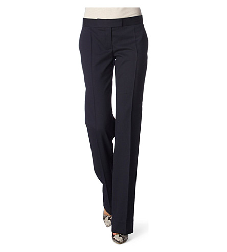 STELLA MCCARTNEY Jasmine straight-leg trousers (Navy