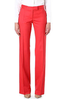 STELLA MCCARTNEY Jasmine fine-knit wide-leg trousers