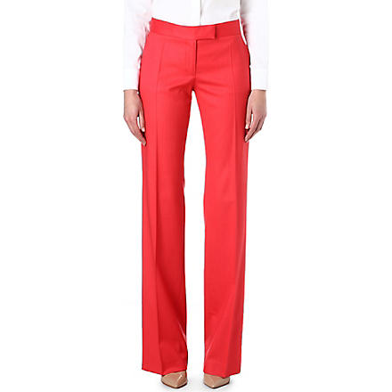 STELLA MCCARTNEY Jasmine fine-knit wide-leg trousers (Sorbet
