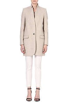 STELLA MCCARTNEY Inverted-lapel cotton-blend coat