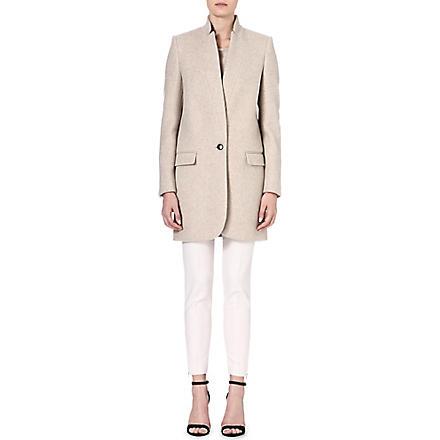 STELLA MCCARTNEY Inverted-lapel cotton-blend coat (Beige