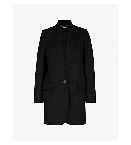 STELLA MCCARTNEY Bryce wool-blend coat (Blk