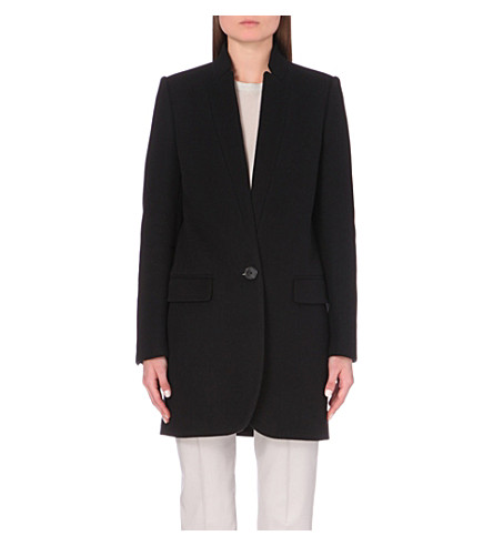 STELLA MCCARTNEY Bryce wool-blend coat (Blk