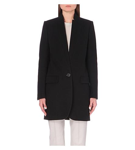 STELLA MCCARTNEY Tailored wool-blend coat (Blk