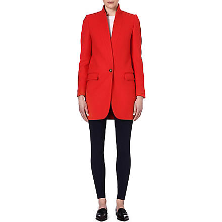 STELLA MCCARTNEY Tailored wool-blend coat (Orange