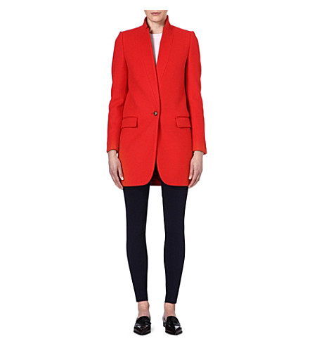 STELLA MCCARTNEY Bryce wool-blend coat (Orange