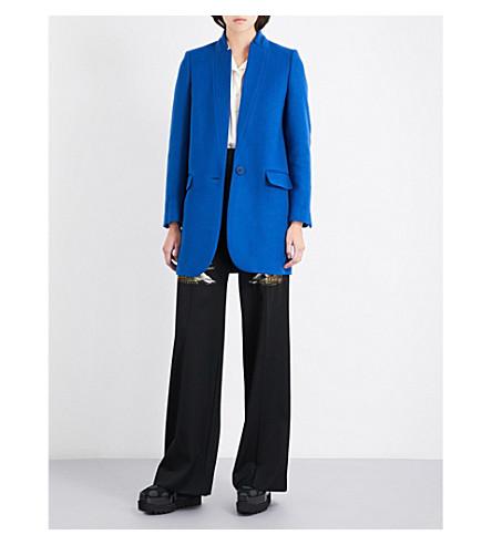 STELLA MCCARTNEY Bryce wool-blend coat (Petrol blue