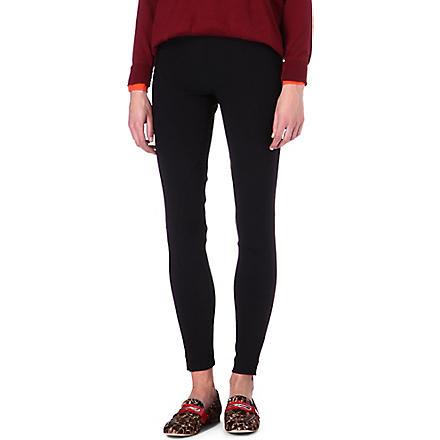 STELLA MCCARTNEY Zip-detailed leggings (Black